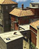 Italian Rooftop Scene Stock Photos