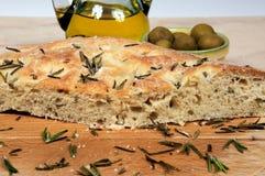 Italian rosemary Focaccia bread. Stock Photography