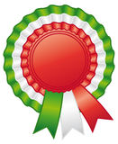 Italian rosette ribbon. Stock Photo