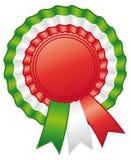 Italian rosette ribbon. Stock Photo