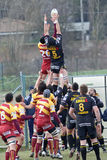 Italian Rugby Federation Cup Match Stock Photo