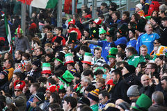 Italian rugby supporters Royalty Free Stock Images