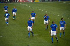 Italian rugby team Royalty Free Stock Photography