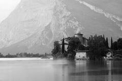 Italian ruine. A photo of an Italian castle near a lake in the mountains (alps stock photography