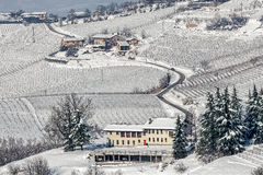 Italian rural wintry view. Royalty Free Stock Images