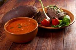 Italian rustic dinner stock photos