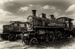 Italian rusty steam locomotive Royalty Free Stock Photos