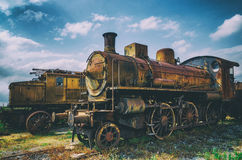 Italian rusty steam locomotive Royalty Free Stock Image