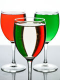 Italian's glass. When red and green combined Royalty Free Stock Images