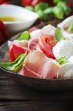 Italian salad caprese with ham Stock Image