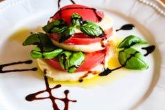 Italian salad capreze stock photos