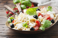 Italian Salad with cold pasta and mozzarella Stock Photography