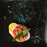 Italian salad overhead Stock Images