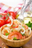 Italian salad panzanella with tomatoes, onions and croutons Royalty Free Stock Photo