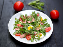 Italian salad with rucola stock images