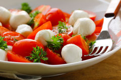 Italian salad with tomatoes and mozzarella Stock Photo