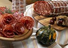 Italian salame Stock Image