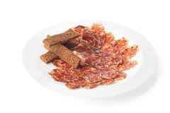 Italian salame sausage Stock Photos