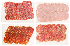 Italian salami stock images