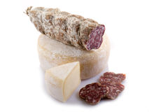 Italian salami and cheese Stock Photography