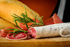 Italian salami closeup Stock Photography