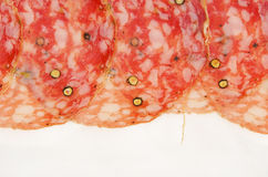 Italian salami fennel Royalty Free Stock Images