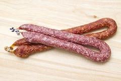 Italian salami sausges Royalty Free Stock Photos