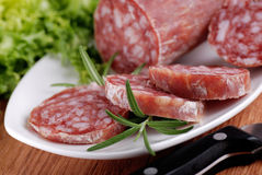 Italian salami Royalty Free Stock Photography