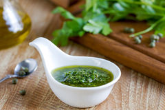 Italian Salsa verde Stock Image