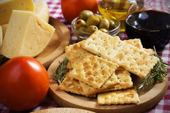 Italian salty crackers Stock Image