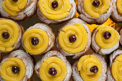 Italian San Giuseppe Zeppole from Naples Stock Photography