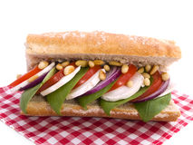Italian sandwich Royalty Free Stock Photography
