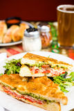 Italian sandwich Royalty Free Stock Photos