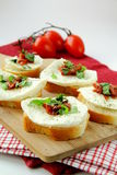 Italian Sandwich with mozzarella basil Stock Images