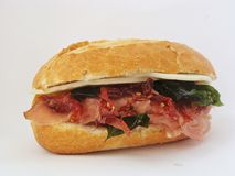 Italian Sandwich. With prosciutto and sundried tomatoes Stock Image
