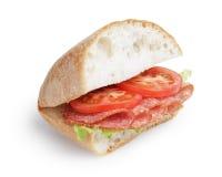 Italian sandwich with salami Stock Photo
