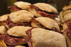 Italian sandwiches Stock Images
