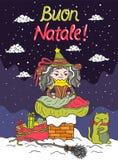 Italian Santa Claus - Befana Stock Image