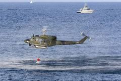 Italian SAR Helicopter demonstration Stock Photo