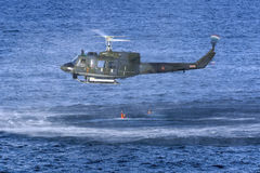 Italian SAR Helicopter demonstration Royalty Free Stock Photography