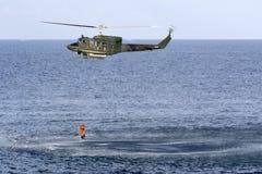 Italian SAR Helicopter demonstration Stock Photo