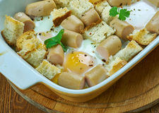 Italian Sausage and Egg Bake Royalty Free Stock Images