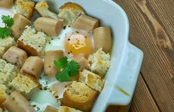 Italian Sausage and Egg Bake Royalty Free Stock Photos