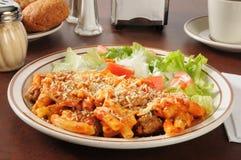 Italian sausage and meatball rigatoni Stock Photos