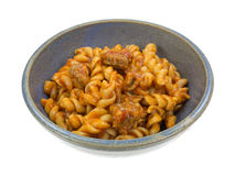 Italian Sausage With Pasta In Bowl Side View Stock Photo