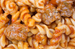 Italian Sausage With Pasta Close View Stock Photo