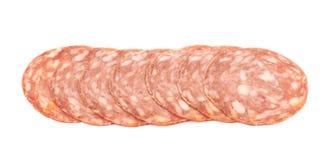 Italian sausage salame napoli isolated Royalty Free Stock Images