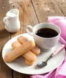 Italian savoiardi cookies, Ladyfingers Royalty Free Stock Image