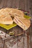 Italian Savoury Pie stock images