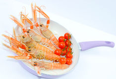 Italian scampi. Scampi italian and mediterranean shellfishes Royalty Free Stock Image